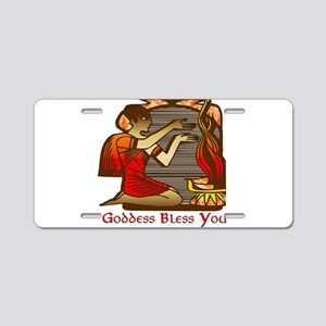 Goddess Bless You Aluminum License Plate
