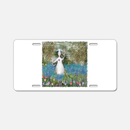River Goddess Aluminum License Plate