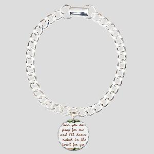 Naked Pagan Dance Charm Bracelet, One Charm