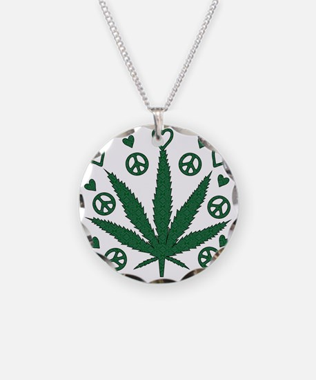 Peace Love Weed Necklace