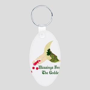 Goddess Blessings Aluminum Oval Keychain
