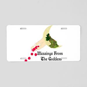 Goddess Blessings Aluminum License Plate