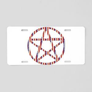 Patriotic Pentacle Aluminum License Plate
