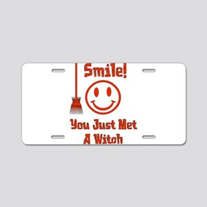 Witch Smile Aluminum License Plate