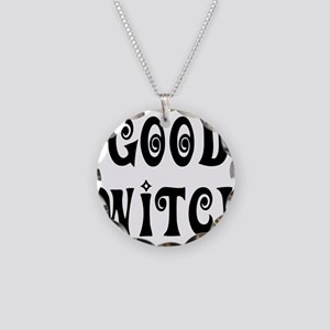 Good Witch Necklace Circle Charm