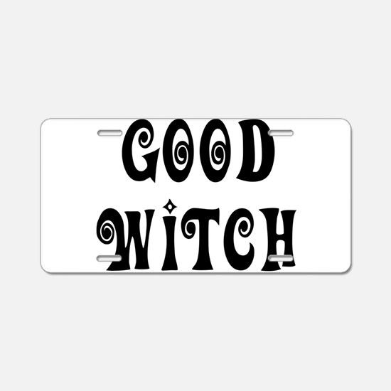 Good Witch Aluminum License Plate