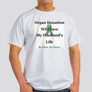 Husband Organ Donation Ash Grey T-Shirt