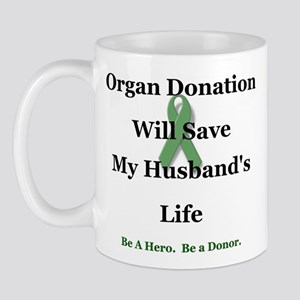 Husband Organ Donation Mug