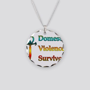Domestic Violence Survivor Necklace Circle Charm