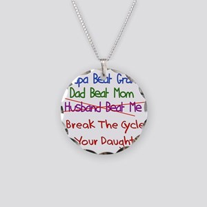 End Cycle Of Violence Necklace Circle Charm