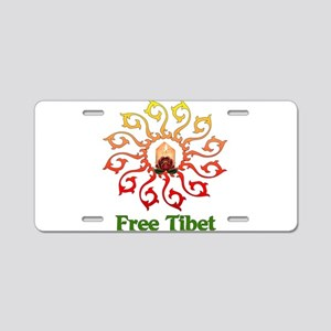 Free Tibet Candle Aluminum License Plate