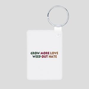Grow More Love Aluminum Photo Keychain