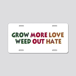 Grow More Love Aluminum License Plate