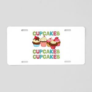 Cupcakes Cupcakes Cupcakes Aluminum License Plate