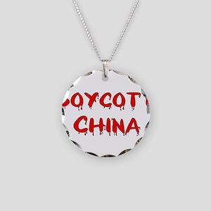 Boycott China Necklace Circle Charm