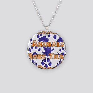 Animal Lover Necklace Circle Charm