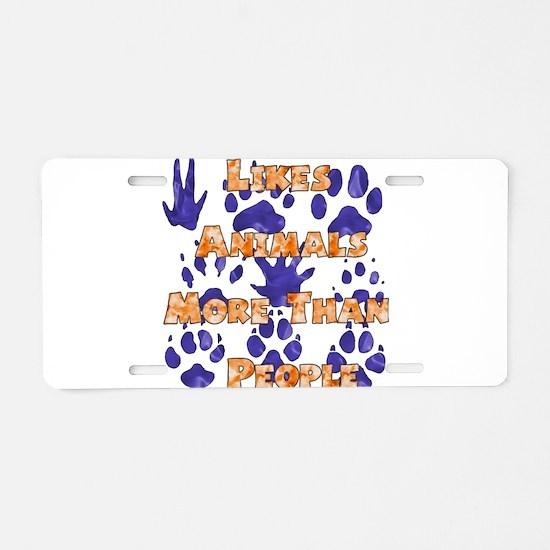Animal Lover Aluminum License Plate