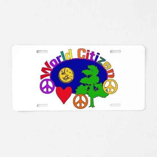 Citizen Of One World Aluminum License Plate