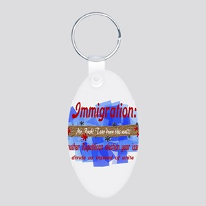 Election Year Issue Aluminum Oval Keychain