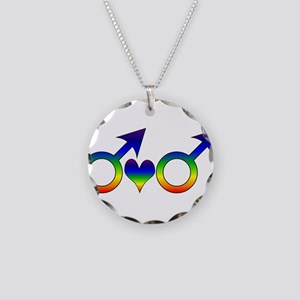 Gay Men Partners Necklace Circle Charm