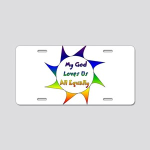 Equal Love Aluminum License Plate