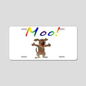 Mooing Dog Aluminum License Plate