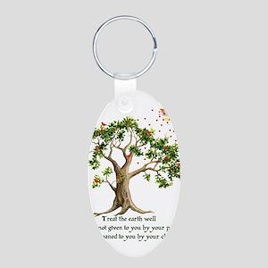 Kenyan Nature Proverb Aluminum Oval Keychain
