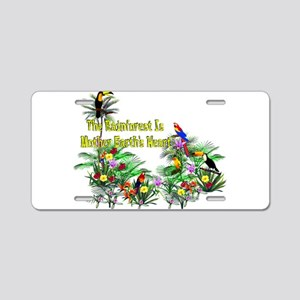 Save The Rainforest Aluminum License Plate
