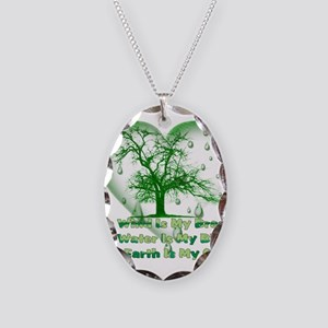 Pagan Treehugger Necklace Oval Charm