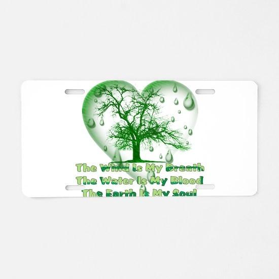 Pagan Treehugger Aluminum License Plate