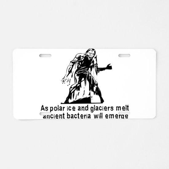 Polar Ice Monster Aluminum License Plate