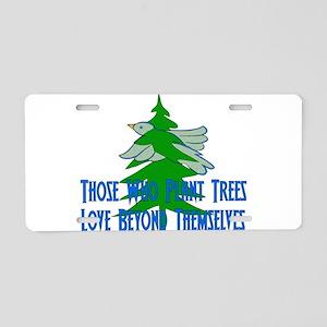 Treehugger Gift Aluminum License Plate