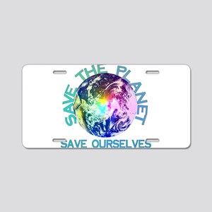 Save The Planet Aluminum License Plate