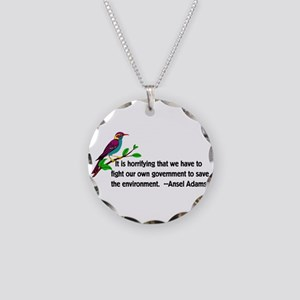Fighting The Government Necklace Circle Charm