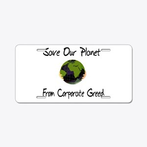 Save Our Planet Aluminum License Plate