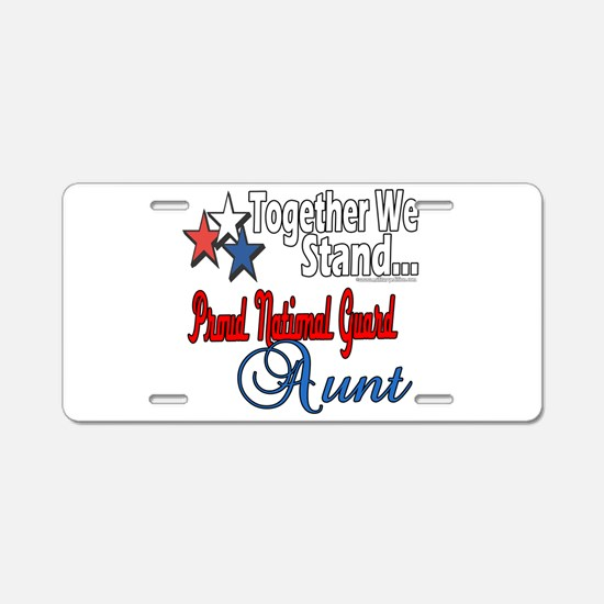 National Guard Aunt Aluminum License Plate