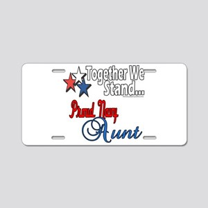 Proud Navy Aunt Aluminum License Plate