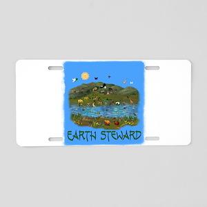 Earth Steward Aluminum License Plate