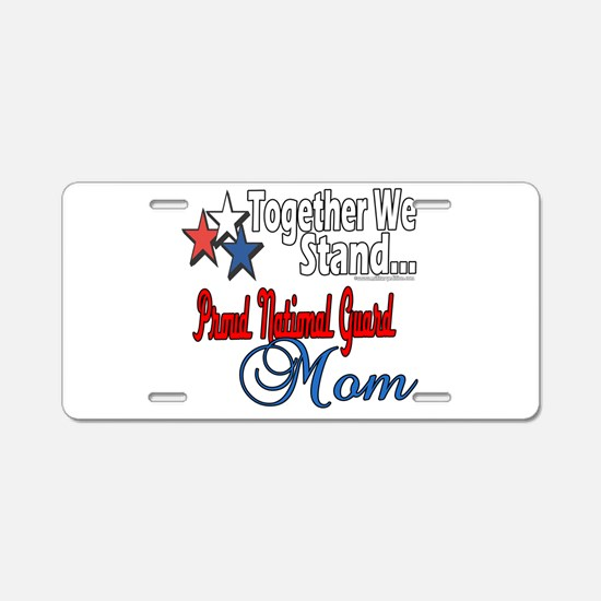 National Guard Mom Aluminum License Plate