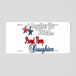 Proud Navy Daughter Aluminum License Plate