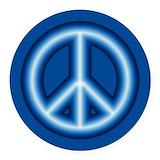 Blue peace symbol Round Car Magnets