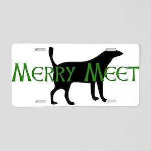 Merry Meet Spirit Dog Aluminum License Plate