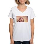 Dawn Lion Women's V-Neck T-Shirt