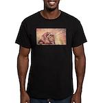 Dawn Lion Men's Fitted T-Shirt (dark)