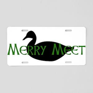 Merry Meet Spirit Duck Aluminum License Plate
