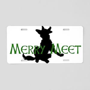 Merry Meet Spirit Fox Aluminum License Plate