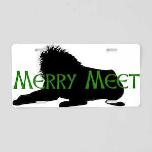 Merry Meet Spirit Lion Aluminum License Plate