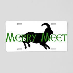Merry Meet Spirit Ram Aluminum License Plate