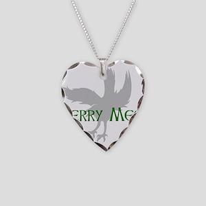 Merry Meet Spirit Raven Necklace Heart Charm