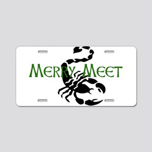 Merry Meet Spirit Scorpion Aluminum License Plate